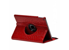 Etui iPad 2018/2017 Spin Croco Gloss-Rouge
