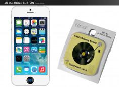 Sticker iPhone/iPad/iPod Touch Bouton Home- Vinyle Jaune