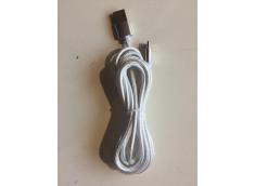 Câble microUSB-C - 1 Mètre - nylon Silver