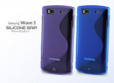 Coque Samsung Wave 3 Silicone Grip Translucide