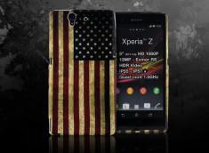 Coque Sony Xperia Z Vintage USA Flag