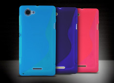 Coque Sony Xperia L Grip Flex Translucide