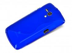 Coque Sony Xperia Neo L Silicone Grip-Bleu
