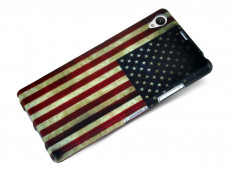 Coque Sony Xperia Z1 Vintage USA Flag