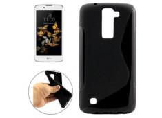 Coque LG K8 Silicone Grip-Noir