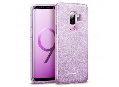 Coque Samsung Galaxy A7 2018 Glitter Protect-Violet