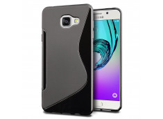 Coque Samsung Galaxy A3 2016 Silicone Grip-Noir
