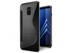 Coque Samsung Galaxy A7 2018 Silicone Grip-Noir