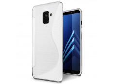 Coque Samsung Galaxy A8 2018 Silicone Grip-Translucide