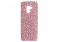 Coque Samsung Galaxy J6 Plus 2018 Glitter Protect-Rose