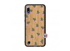 Coque Samsung Galaxy A10 Cactus Pattern Bois Bamboo