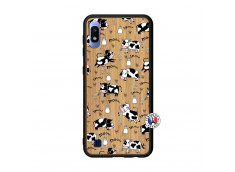 Coque Samsung Galaxy A10 Cow Pattern Bois Bamboo