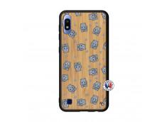 Coque Samsung Galaxy A10 Petits Hippos Bois Bamboo