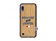 Coque Samsung Galaxy A10 Rien A Foot Allez Liverpool Bois Bamboo