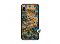 Coque Samsung Galaxy A10 Leopard Jungle Bois Bamboo