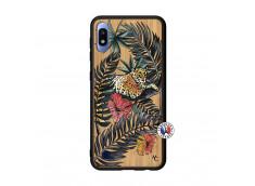 Coque Samsung Galaxy A10 Leopard Tree Bois Bamboo