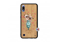Coque Samsung Galaxy A10 Puppies Love Bois Bamboo