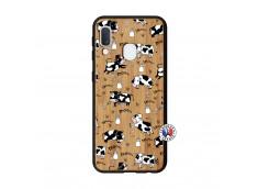 Coque Samsung Galaxy A20e Cow Pattern Bois Bamboo