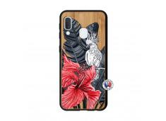 Coque Samsung Galaxy A20e Papagal Bois Bamboo