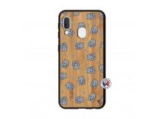 Coque Samsung Galaxy A20e Petits Hippos Bois Bamboo