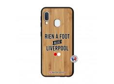 Coque Samsung Galaxy A20e Rien A Foot Allez Liverpool Bois Bamboo