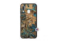 Coque Samsung Galaxy A20e Leopard Jungle Bois Bamboo