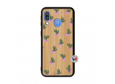 Coque Samsung Galaxy A40 Cactus Pattern Bois Bamboo