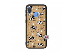 Coque Samsung Galaxy A40 Cow Pattern Bois Bamboo