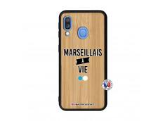 Coque Samsung Galaxy A40 Marseillais à Vie Bois Bamboo