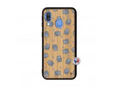 Coque Samsung Galaxy A40 Petits Hippos Bois Bamboo