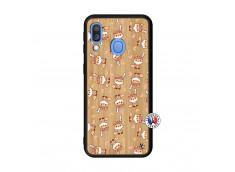 Coque Samsung Galaxy A40 Petits Renards Bois Bamboo
