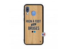 Coque Samsung Galaxy A40 Rien A Foot Allez Bruges Bois Bamboo