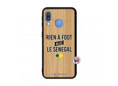 Coque Samsung Galaxy A40 Rien A Foot Allez Le Senegal Bois Bamboo
