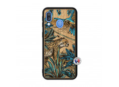 Coque Samsung Galaxy A40 Leopard Jungle Bois Bamboo