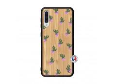 Coque Samsung Galaxy A50 Cactus Pattern Bois Bamboo