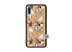 Coque Samsung Galaxy A50 Cat Pattern Bois Bamboo