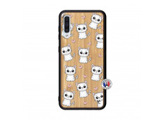 Coque Samsung Galaxy A50 Petits Chats Bois Bamboo