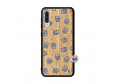 Coque Samsung Galaxy A50 Petits Hippos Bois Bamboo