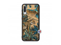 Coque Samsung Galaxy A50 Leopard Jungle Bois Bamboo