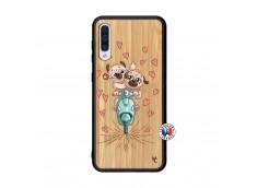 Coque Samsung Galaxy A50 Puppies Love Bois Bamboo