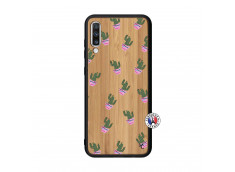 Coque Samsung Galaxy A70 Cactus Pattern Bois Bamboo