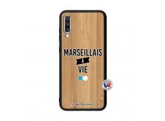 Coque Samsung Galaxy A70 Marseillais à Vie Bois Bamboo