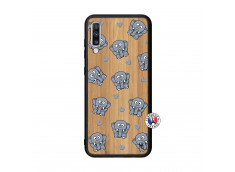 Coque Samsung Galaxy A70 Petits Elephants Bois Bamboo