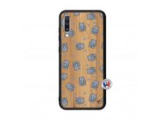 Coque Samsung Galaxy A70 Petits Hippos Bois Bamboo
