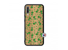 Coque Samsung Galaxy A70 Petits Serpents Bois Bamboo