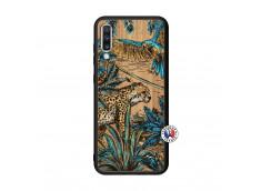 Coque Samsung Galaxy A70 Leopard Jungle Bois Bamboo