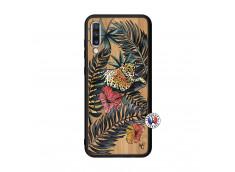 Coque Samsung Galaxy A70 Leopard Tree Bois Bamboo