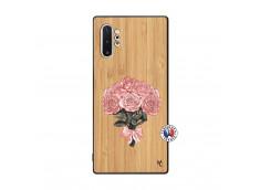 Coque Samsung Galaxy Note 10 Plus Bouquet de Roses Bois Bamboo