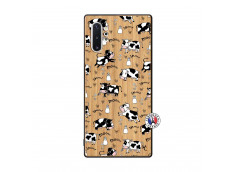 Coque Samsung Galaxy Note 10 Plus Cow Pattern Bois Bamboo