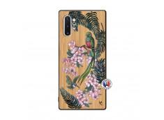 Coque Samsung Galaxy Note 10 Plus Flower Birds Bois Bamboo